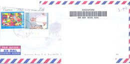 2001.Singapure, The Letter Sent By Registered Air-mail Post To Moldova - Singapore (1959-...)