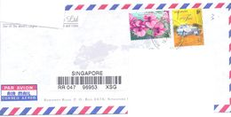 2000.Singapure, The Letter Sent By Registered Air-mail Post To Moldova - Singapore (1959-...)