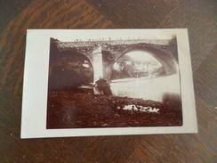 Carte Photo 30 Gard à Re Situer 1907 Entrée Village Pont Abîmé éboulements TBE - France