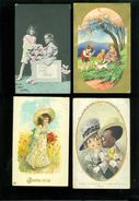 Lot De 60 Cartes Postales De Fantaisie ( Usée + Abîmée ) Enfant     Lot Van 60 Postkaarten Fantasie ( Geschonden ) - Cartes Postales