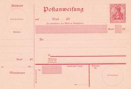 Deutsches Reich  -  1903  ,  Postanweisung - Alemania