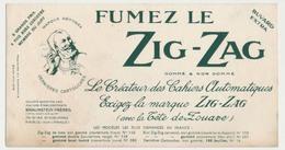 Buvard 20.8 X 10.9 Fumez Lz ZIG-ZAG Avec La Tête De Zouave Papier à Cigarette De Braunstein Frères - Tobacco