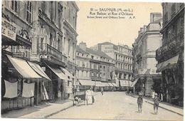 SAUMUR: RUE BALZAC ET RUE D'ORLEANS - Saumur
