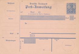 Deutsches Reich  -  1900  ,  Post=Anweisung , Druckdatum 200 - Alemania