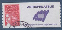= Timbre Marianne De Luquet Dite Du 14 Juillet YT N° 3729A Et Spink N°7 Logo Astrophilatélie Oblitération Kourou - Sellos Personalizados