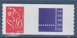 = Timbre Marianne De Lamouche Neuf YT N° 3802A Et Spink N°30 Logo SO.CO.CO.DA.MI. - Personalized Stamps