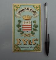 Textile 016, EV & Cie, Aux Armes De Béziers, Fournitures Pour Tailleurs, Imp Bayart à Lile - Labels
