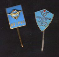 Army.2 Pins Military School Of Yugoslav Army.cadets AIR FORCE ACADEMY.pilots, - Army