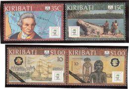 CP67 - KIRIBATI N° 185/188** De 1988 émis à L'occasion De L'Expo De Sydney - Thème James COOK. - Kiribati (1979-...)