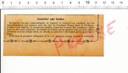 Presse 1910 Courrier Aérien Poste Aérienne Par Fusée Iles Tonga Philatélie Distribution Acheminement Postal 216PF10F - Old Paper