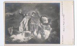 E. DELACROIX - DANTE & VIRGILE - PHOTO E. DRUET - RPPC POSTCARD 1910s (51) - Peintures & Tableaux