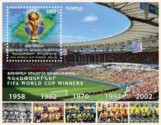 Armenia Arménie Armenien 2017 S/S Sport. FIFA World Cup. Winners. Brazil Marakana Rio De Janeiro Pele MNH** - Armenia