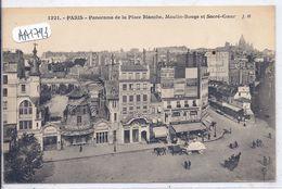 PARIS- PANORAMA DE LA PLACE BLANCHE ET DU MOULIN ROUGE - París La Noche