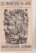 (GB20) LES INVENTIONS DU JOUR , HERVIER à L' Alcazar BIENFAIT Au Concert De L' époque , Musique CH POURNY , Paroles LARO - Partitions Musicales Anciennes