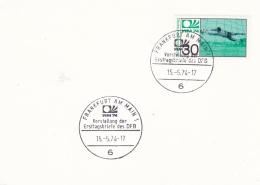 Germany Card 1974 FIFA World Cup Football - Frankfurt Am Main  (A541) - Coppa Del Mondo