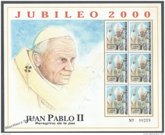 Honduras 2000 Yvert BF 59A, Holy Year/ Jubilee, Pope Jean Paul II  - Miniature Sheet - MNH - Honduras