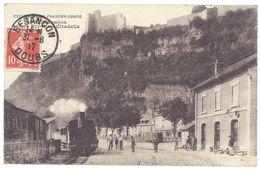 Cpa Besançon - Gare Rivotte - Citadelle ( Train ) - Besancon