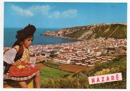 Portugal --1980-- NAZARE -- Vue Générale +fillette En Costume--Empreinte EMA  Santa Marta - Latina