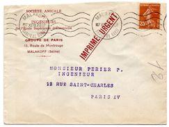 SEINE - Dépt N° 75 = MALAKOFF / BANLIEUE OUEST 1933 = FLAMME KRAG MUETTE  ' 5 Lignes Ondulées ' - Marcofilie (Brieven)