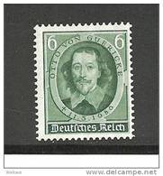 III-Mi.Nr.608**/ (1936) Guericke (Luftpumpe)  MNH - Deutschland
