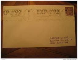 LEGANES 1987 EXPO 92 Sevilla America Discover Colon Columbus Cover Madrid Spain - 1931-Hoy: 2ª República - ... Juan Carlos I