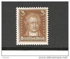 Mi.Nr.386++/ 1927 Goethe 3 Pfg. Braun ** - Ungebraucht