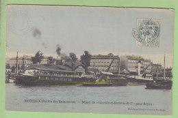 BORDEAUX : Ponton Des Quinconces, Départ Du Gironde Et Garonne N° 2 Pour Royan. 2 Scans. Edition Chambon - Bordeaux