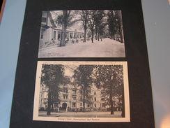 Bad Nauheim Mit Hotel 2 Alte Karten Bahnpost 1914 Und Feldpost - Bad Nauheim