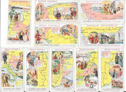 16 Chromos Sur Les GRANDES VOIES FERREES MONDIALES Avec Descriptif # RARE # Chocolat AIGUEBELLE -   - L 1 - Collections