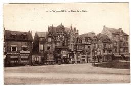 DE HAAN - LA COQ - COQ-SUR-MER - Place De La Gare - Ed. Grand Bazar Ghevaert, Coq Sur Mer - De Haan