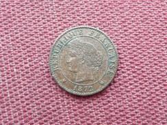 FRANCE Monnaie De 1 Cts 1872 A - Frankrijk