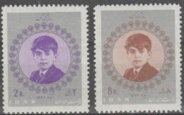IRAN - 1967 Crown Prince Reza. Scott 1456-57. MNH ** - Iran