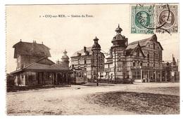 DE HAAN - LA COQ - COQ-SUR-MER - Station Du Tram - TRAMWAY - Ed. Grand Bazar Ghevaert, Coq Sur Mer - De Haan