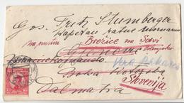 Kingdom SHS Letter Cover Travelled 1925 Sušak To Boka Kotorska Redirected To Brežice (Slovenia) B180103 - 1919-1929 Kingdom Of Serbs, Croats And Slovenes