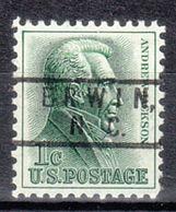 USA Precancel Vorausentwertung Preo, Locals North Carolina, Erwin 801 - Vereinigte Staaten