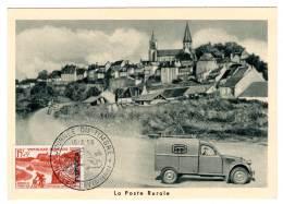CARTE MAXIMUM - ALGERIE - Journée Du Timbre 1958 - Cartoline Maximum