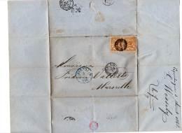 LETTRE - DANEMARK - Du 05/08/1868 Pour Marseille (N°14 X2  , 8s.) - 1864-04 (Christian IX)
