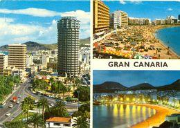 Canaries - Grande Canaria - Las Palmas - Multivues - John Hinde Nº 2CTG 138 - Ecrite, Timbrée - 4086 - Gran Canaria