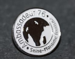 "Pin's ""Ambassadeur 76 - Seine-Maritime"" Etretat, Porte D'Aval - Normandie - Badge - Epinglette - Cities"