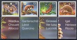 Schweiz 2016  MiNr. 2446/ 2449  **/ Mnh ; Nachtaktive Tiere - Non Classés