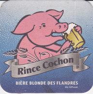 Sous-bocks, RINCE COCHON, Bière Blonde Des Flandres - Beer Mats