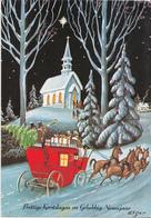 Fantasiekaart - Prettige Kerstdagen En  Gelukkig Nieuwjaar - Color/kleur - Gebruikt/gebraucht/used - Kerstmis