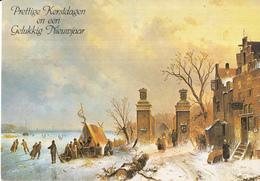 Fantasiekaart - Prettige Kerstdagen En Een Gelukkig Nieuwjaar - Color/kleur - Gebruikt/gebraucht/used - Kerstmis