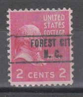 USA Precancel Vorausentwertung Preo, Locals North Carolina, Forest City 748 - Vereinigte Staaten
