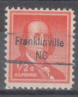 USA Precancel Vorausentwertung Preo, Locals North Carolina, Franklinville 843 - Vereinigte Staaten