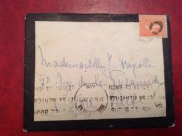 Bourg-en-Bresse Oblitération En Dehors Du Timbre Puis Cachet De Fortune - Postmark Collection (Covers)