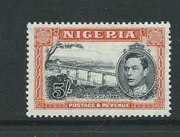 Nigeria Very Lightly Hinged 5/- Sg59  Perf 13.5 - Nigeria (...-1960)