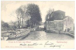 Cpa Castelnaudary - Ecluses De St-Roch Vues D'Amont  ( Péniche, Tonneaux ) - Castelnaudary
