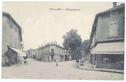 Cpa Villars - Bifurcation - Villars-les-Dombes