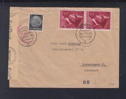 Dt. Reich Brief 1942 Suhl Nach Kopenhagen Zensur - Germany